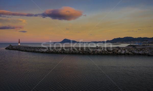 Puesta de sol espanol costa Valencia España playa Foto stock © smartin69