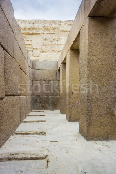 Valley Temple in Giza Cairo Stock photo © smartin69
