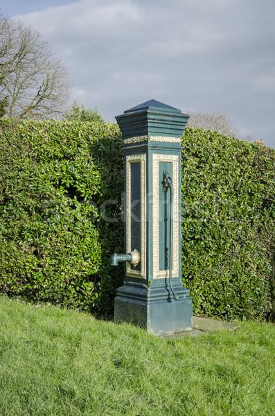 古代 村 水 ポンプ ビルド 木材 ストックフォト © smartin69