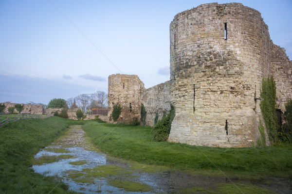 Stock photo: Pevensey Castle Ruins, Sussex, UK