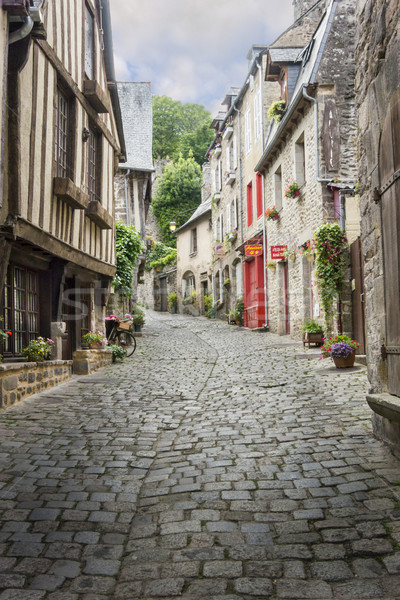 Cobbled Street in Dinan, France Stock photo © smartin69