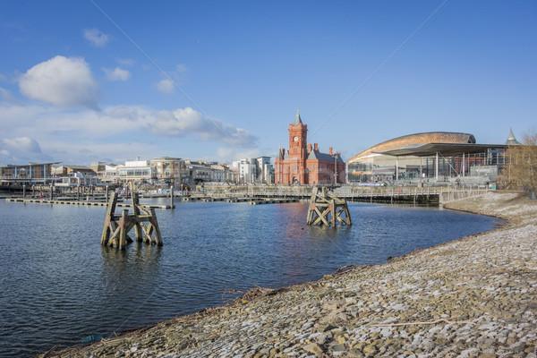 Cardiff Bay Skyline Stock photo © smartin69