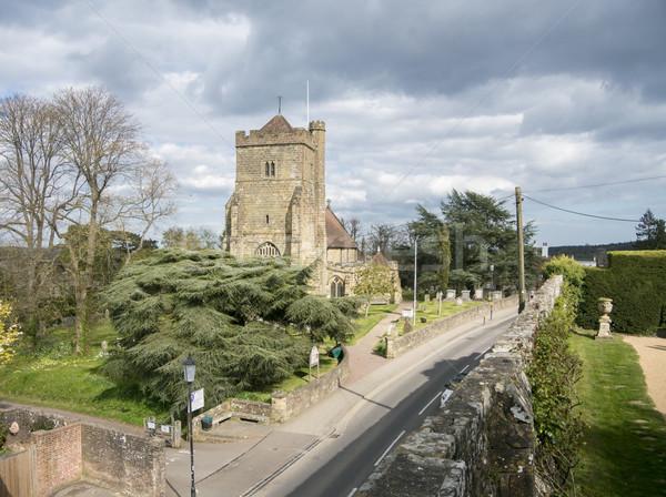 Stock fotó: Templom · csata · Sussex · kilátás · szent · falak