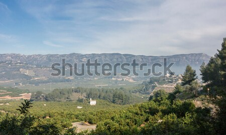 Vadi Valencia İspanya buğu manzara dağ Stok fotoğraf © smartin69