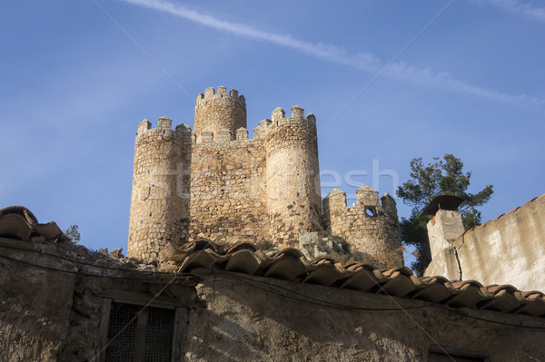 Almansa castle, Castilla la Mancha, Spain Stock photo © smartin69