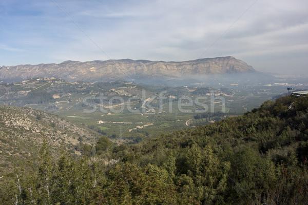 Vallée Valence Espagne brouillard paysage montagne Photo stock © smartin69