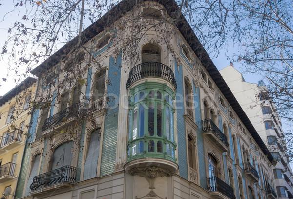 Art nouveau stil ev Valencia İspanya Stok fotoğraf © smartin69