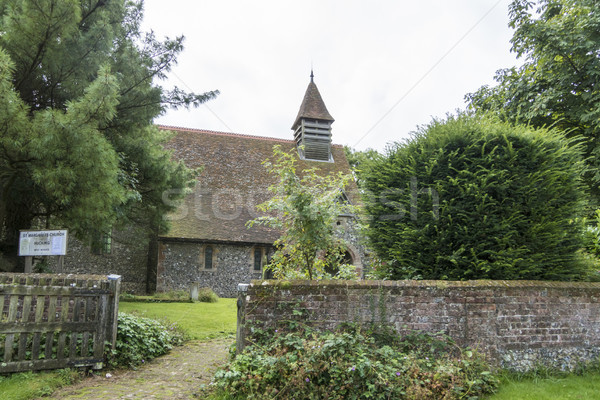 Stock photo: St Margaret's Church, Hucking, Kent, UK