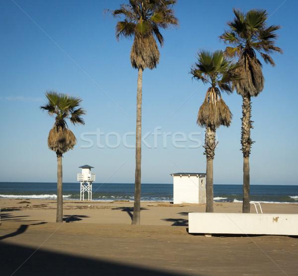 Plaj Valencia İspanya akdeniz su doğa Stok fotoğraf © smartin69