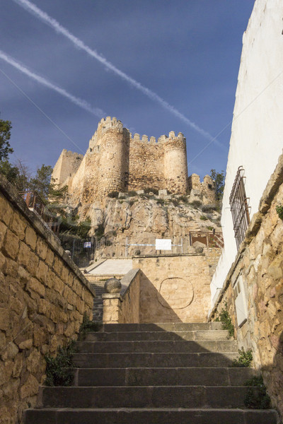 Castillo España vista escaleras país Foto stock © smartin69