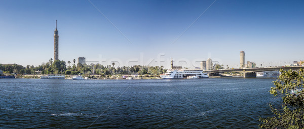 Nile Riverfront at Cairo, Egypt Panorama Stock photo © smartin69