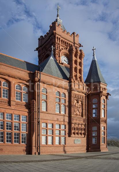 Wales gebouw Rood baksteen architectuur cultuur Stockfoto © smartin69