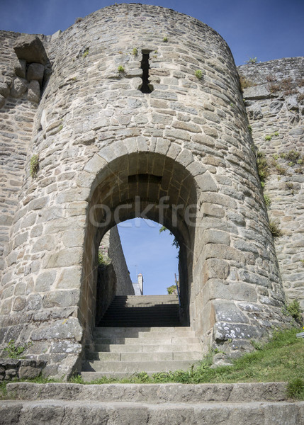 Archway of the City Wall of Dinan, Brittany, France Stock photo © smartin69