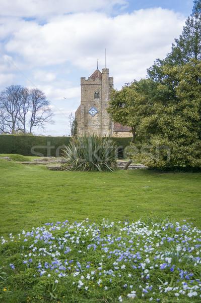 Kilise savaş sussex aziz İngiltere saat Stok fotoğraf © smartin69