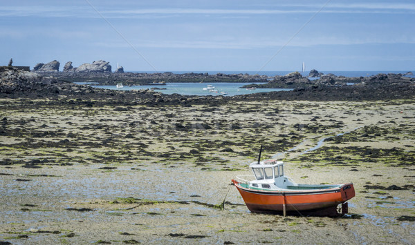 Brittany Beach at Low Tide Stock photo © smartin69