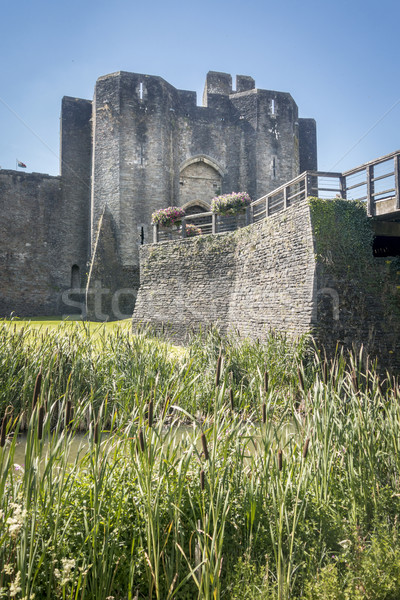 Caerphilly Castle Stock photo © smartin69