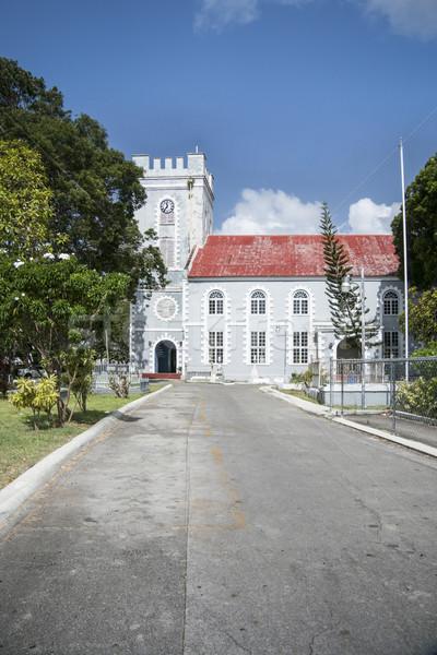 Aziz kilise Barbados ibadet mimari kule Stok fotoğraf © smartin69
