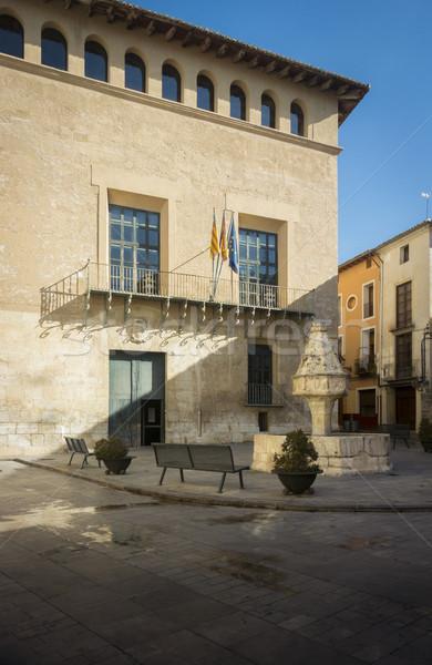 噴水 宮殿 スペイン バレンシア 市 石 ストックフォト © smartin69