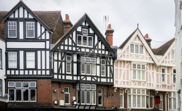 Binalar ev ahşap İngiltere yapı batı Stok fotoğraf © smartin69