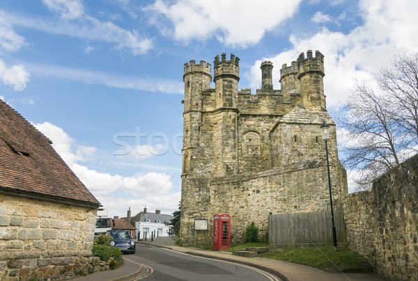 Bataille abbaye sussex Angleterre rouge architecture Photo stock © smartin69