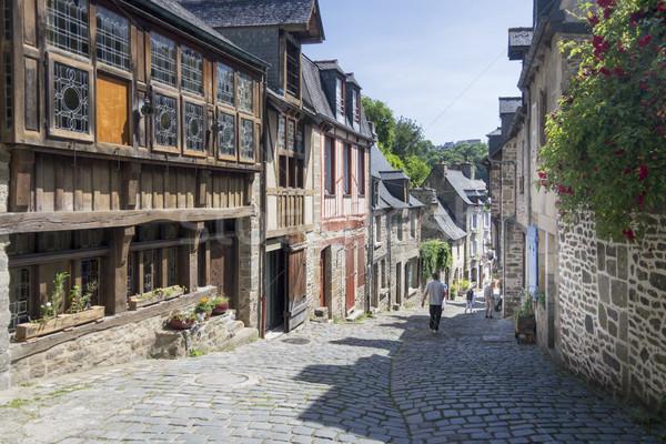 Ortaçağ sokak Fransa binalar şehir yol Stok fotoğraf © smartin69