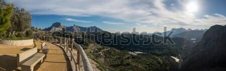 İspanyolca vadi dağ panorama panoramik görmek Stok fotoğraf © smartin69