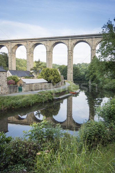 Viaduct at Dinan, Brittany, France Stock photo © smartin69