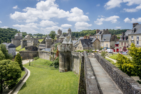 Fougeres City Wall Stock photo © smartin69