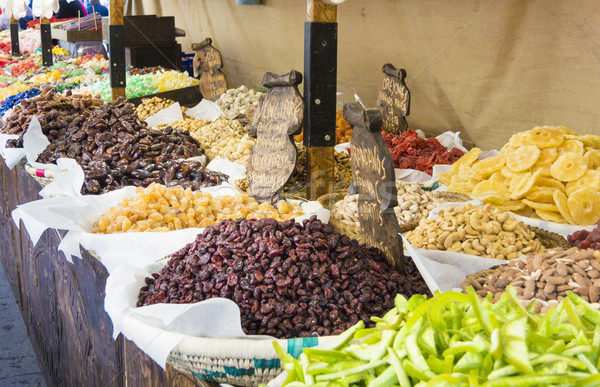 Market Stall Selling Dried Fruit & Nuts Stock photo © smartin69