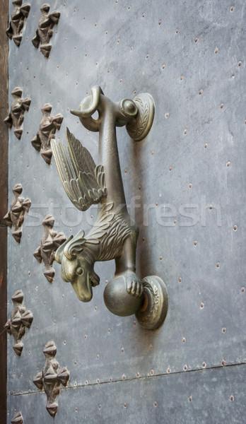 Ejderha kapı şehir Valencia İspanya fantezi Stok fotoğraf © smartin69