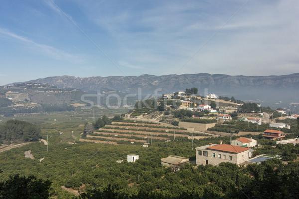 Valencia Spagna città valle panorama montagna Foto d'archivio © smartin69