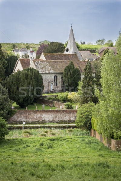Todo iglesia suelto vista pueblo Foto stock © smartin69