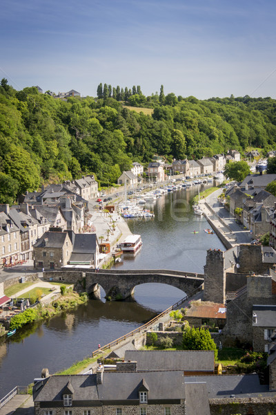 Port of Dinan, Brittany, France Stock photo © smartin69