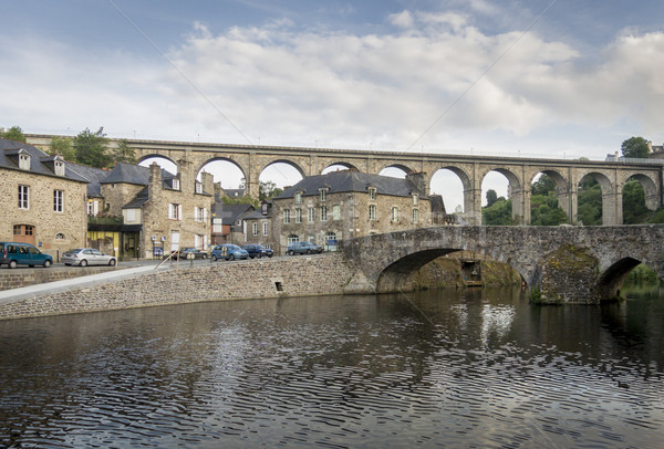 Viaduct and bridge at Dinan, Brittany, France Stock photo © smartin69
