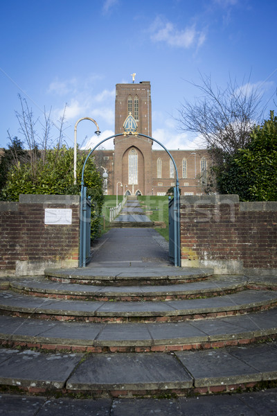 Katedral adımlar yukarı giriş Bina Stok fotoğraf © smartin69