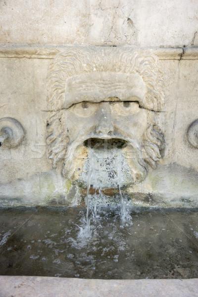 25 çeşme detay İspanya açmak maske Stok fotoğraf © smartin69