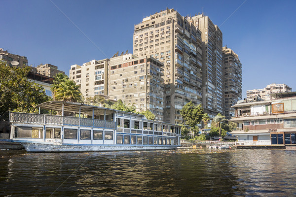 Tower Blocks on the banks of the River Nile Stock photo © smartin69
