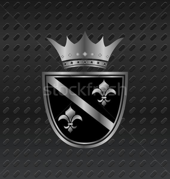 heraldic elements on metallic background Stock photo © smeagorl