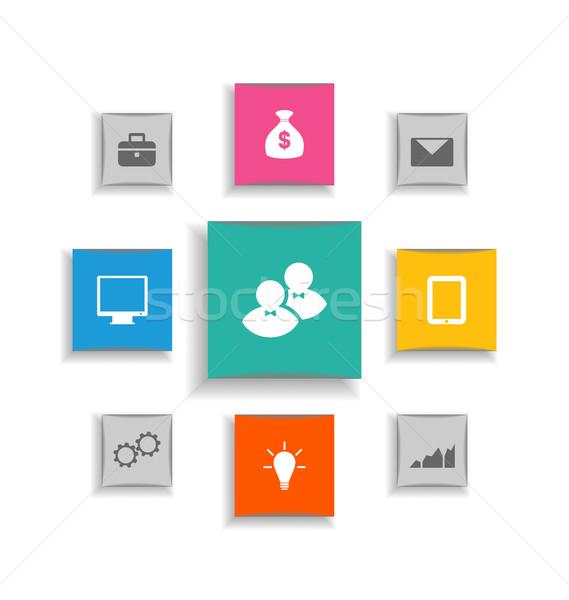 Moderno etiqueta elementos estratégia de negócios ilustração Foto stock © smeagorl