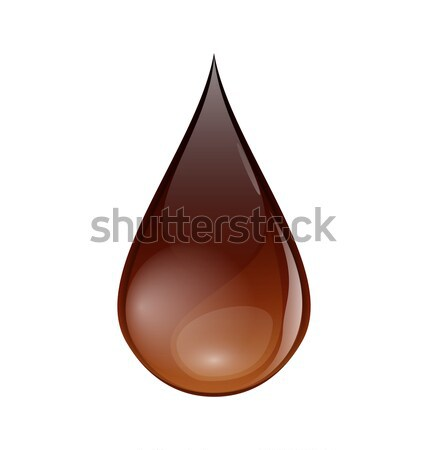 Chocolate or coffee droplet isolated on white background Stock photo © smeagorl