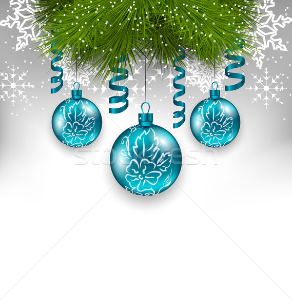 Christmas background with traditional adornment Stock photo © smeagorl