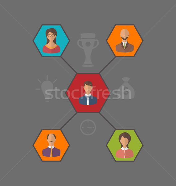 リーダーシップ チーム ビジネスの方々  スタイル アイコン 実例 ストックフォト © smeagorl