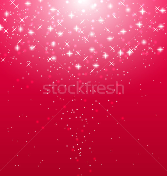 Abstract roze verlicht sterren illustratie Stockfoto © smeagorl