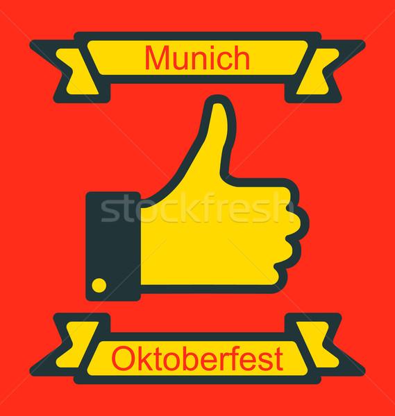 Symbol Daumen up Oktoberfest Party Illustration Stock foto © smeagorl