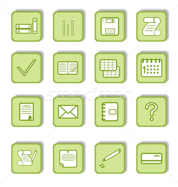 Zöld matrica ikon üzlet iroda toll Stock fotó © smeagorl
