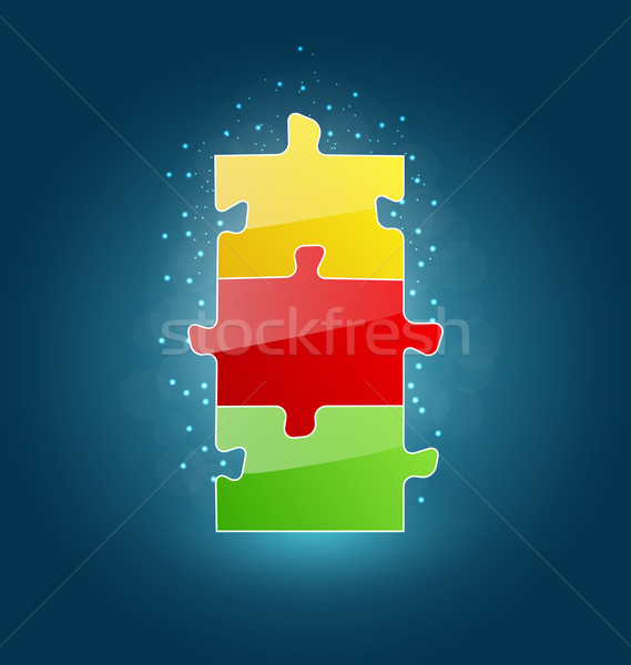 Business concept with set puzzle pieces for success venture Stock photo © smeagorl
