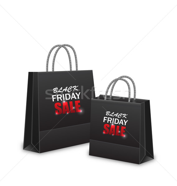 Shopping Paper Bags for Black Friday Sales Stock photo © smeagorl