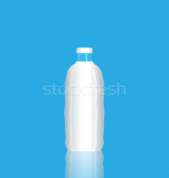 Illustration photorealistic bottle milk reflected self on isolat Stock photo © smeagorl