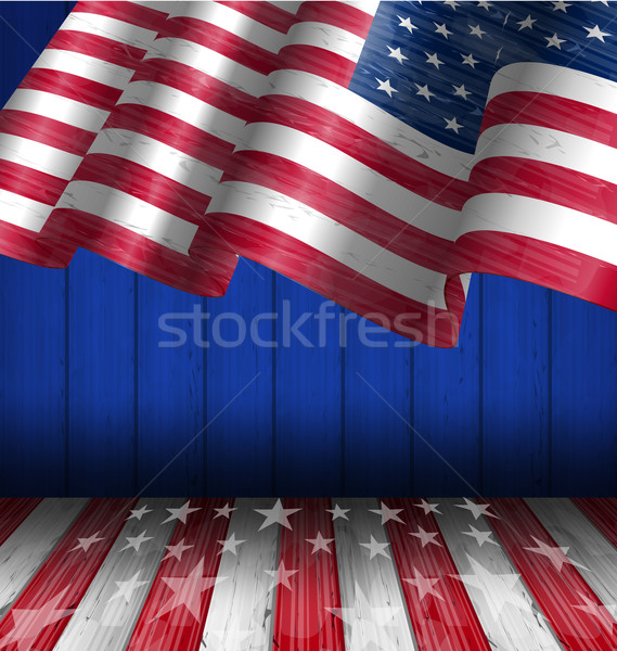 American Flag for Independence Day 4 th of July Stock photo © smeagorl
