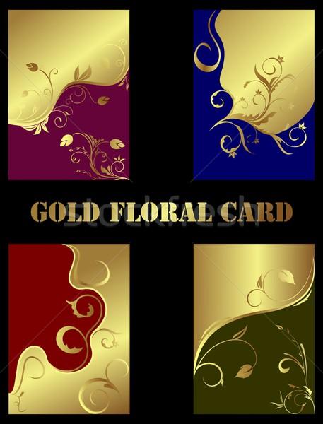 Ingesteld magie gouden textuur voorjaar Stockfoto © smeagorl